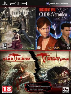 Resident Evil 4 y Resident Evil Code Veronica X Mas  Dead Island Franchise Pack Ps3