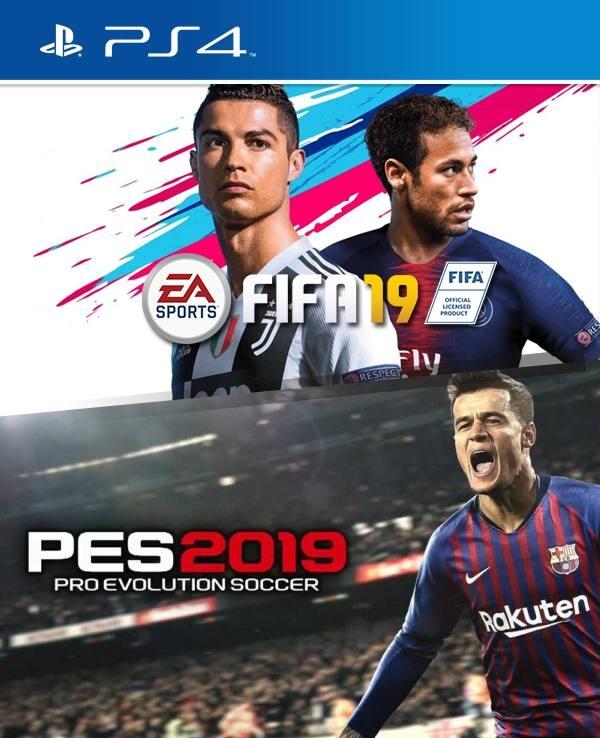 PES 2019 mas FIFA 2019 PS4 PRIMARIA   Juegos Digitales Chile