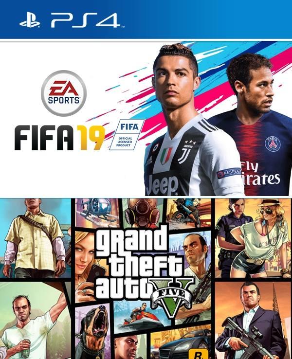 2 Juegos En 1 Fifa 19 Mas Gta V Ps4 Primaria Juegos Digitales