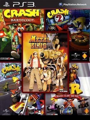 5 JUEGOS EN 1 CRASH COLLECTION + METAL SLUG X PS3