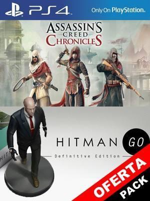 Assassins Creed Chronicles Trilogy Mas Hitman GO Edición definitiva PS4