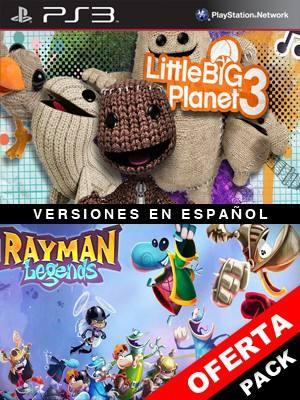 2 juegos en 1 LittleBigPlanet 3 Mas Rayman Legends