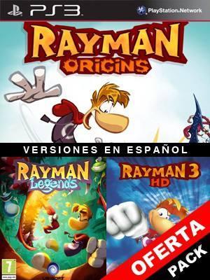 3 juegos en 1 Rayman Origins Mas Rayman Legends Mas RAYMAN 3 HD Ps3