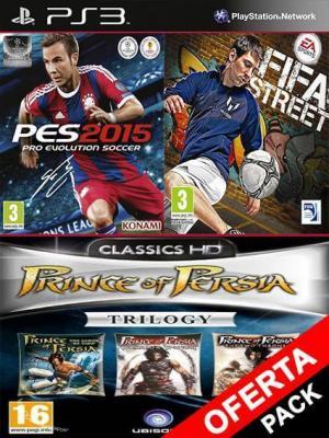 5 juegos en 1 Pes 2015 Mas FIFA Street Mas Prince of Persia Trilogy
