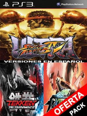3 juegos en 1 Ultra Street Fighter IV Mas TEKKEN TAG TOURNAMENT 2 Mas The King of Fighters XIII