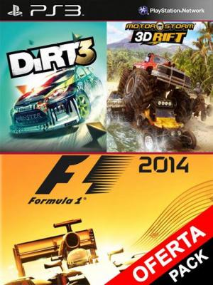 3 juegos en F1 2014 Mas DiRT3 Mas MotorStorm 3D Rift Ps3