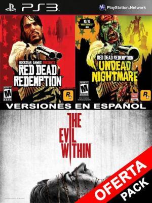 3 Juegos en 1 The Evil Within Mas Red Dead Redemption Mas Undead Nightmare Collection PS3