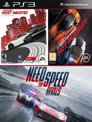 3 juegos en 1 Need for Speed Rivals Mas Need for Speed Most Wanted Mas Need for Speed Hot Pursuit PS3