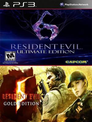 Resident Evil 5 Gold Edition Mas Resident Evil 6 Ultimate Edition Ps3
