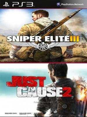 2 juegos en 1 Just Cause 2 Ultimate Edition Mas Sniper Elite 3 PS3