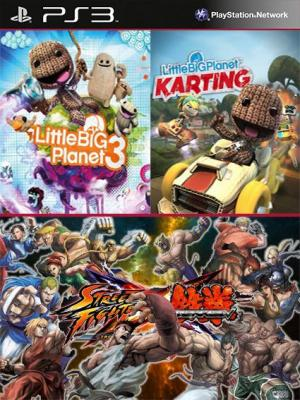 3 juegos en 1 STREET FIGHTER X TEKKEN Mas LittleBigPlanet 3 Mas LittleBigPlanet Karting Ps3