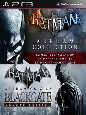 4 juegos en 1 Batman Arkham Collection Mas Batman Arkham Origins Blackgate Deluxe Edition PS3