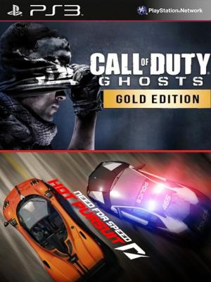 Call of Duty Ghosts Edicion Oro MAs Need for Speed Hot Pursuit PS3