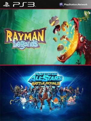 2 juegos en 1 Rayman Legends Mas PlayStation All-Stars Battle Royale PS3