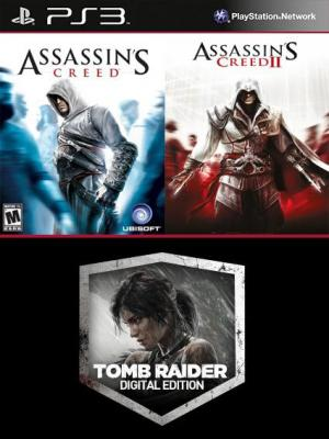 3 juegos en 1 Assassins Creed Mas Assassins Creed 2 Mas Tomb Raider Edicion digital PS3