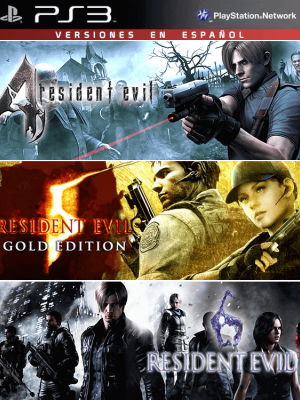 3 juegos en 1 Resident Evil 4 Mas RESIDENT EVIL 5 GOLD EDITION Mas RESIDENT EVIL 6