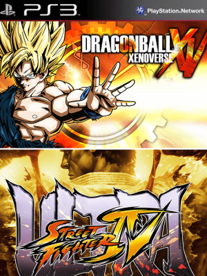 2 JUEGOS EN 1 DRAGON BALL XENOVERSE ps3 + Ultra Street Fighter IV ps3