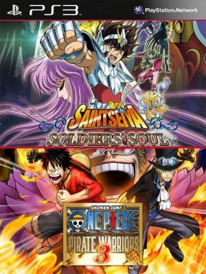 2 juegos en 1 One Piece Pirate Warriors 3 Mas Saint Seiya Soldiers Soul PS3