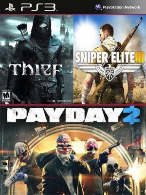 3 juegos en 1 Thief Mas PAYDAY 2 Mas Sniper Elite 3 PS3