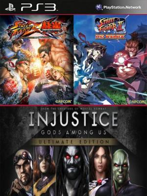 3 juegos en 1 Injustice: Gods Among Us Ultimate Edition Mas Super Street Fighter II Turbo HD Remix Mas STREET FIGHTER X TEKKEN PS3