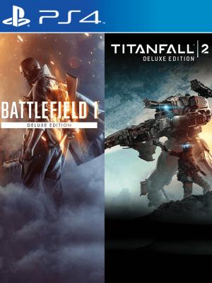 2 juegos en 1 Battlefield 1 Revolution + Titanfall 2 PS4 PRIMARIA