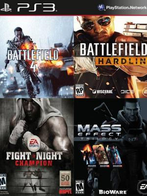 4 juegos en 1 Battlefield 4 mas Battlefield Hardline Standard Edition mas Fight Night Champion mas Mass Effect Trilogy