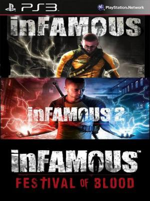 3 JUEGOS EN 1 inFAMOUS Mas inFAMOUS 2 Mas inFAMOUS 2 Festival of Blood  PS3