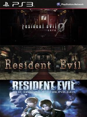 3 JUEGOS EN 1 Resident Evil 0 Mas Resident Evil RESIDENT EVIL Mas THE DARKSIDE CHRONICLES PS3