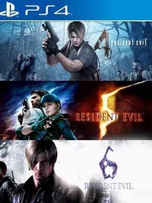 3 Juegos en 1 Resident Evil Triple Pack 4,5,6 PS4 Primaria
