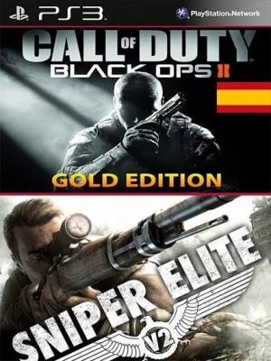 2 JUEGOS EN 1 Gold Edition de Call of Duty: Black Ops II en Español INCLUYE DLC REVOLUTION mas Sniper Elite V2