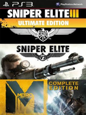 3 juegos en 1 Sniper Elite 3 ULTIMATE EDITION mas Sniper Elite V2 mas Metro Last Light Complete Edition Ps3