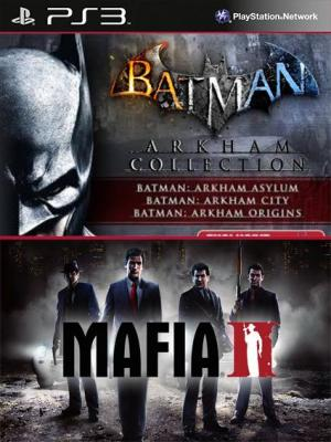 4 juegos en 1 Batman Arkham Collection mas Mafia II  Ps3
