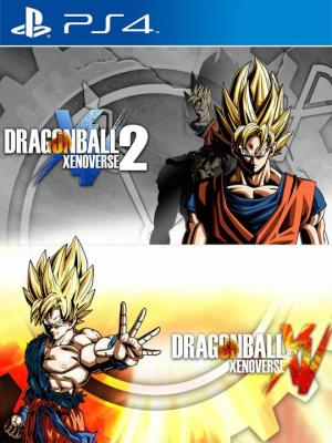 2 juegos en 1 Dragon Ball Xenoverse 1 and 2 Bundle Ps4 Primaria