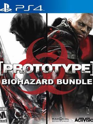 2 juegos en 1 Prototype Biohazard Bundle PS4 PRIMARIA