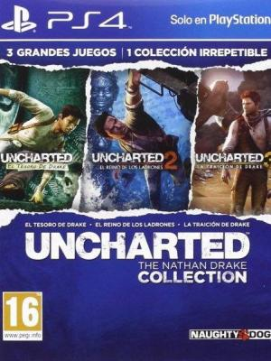 3 juegos en 1 UNCHARTED The Nathan Drake Collection PS4 PRIMARIA
