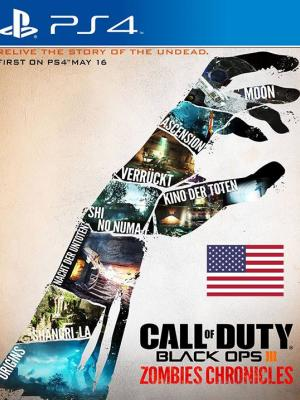 Call of Duty Black Ops III Zombies Chronicles DLC Region USA  PS4 Primaria