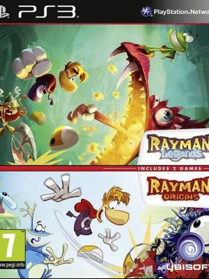 2 JUEGOS EN 1 Rayman Legends + Rayman Origins PS3