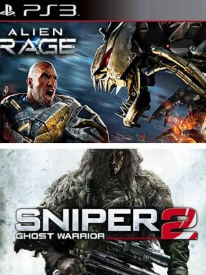 2 JUEGOS EN 1 ALIEN RAGE + SNIPER 2 GHOST WARRIOR PS3
