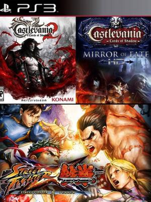 3 juegos en 1 Castlevania Lords of Shadow 2 Mas Castlevania Lords of Shadow - Mirror of Fate HD Mas STREET FIGHTER X TEKKEN