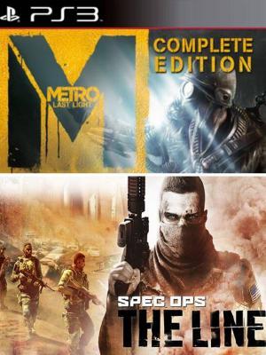 2 juegos en 1 Metro Last Light Complete Edition Mas Spec Ops The Line PS3