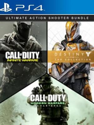3 JUEGOS EN 1  FULL ESPAÑOL Call of Duty Infinite Warfare mas Call of Duty Modern Warfare Remastered mas Destiny  The Collection  PS4