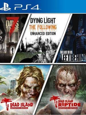 5 juegos en 1 Zombie Atack Ps4 Primaria