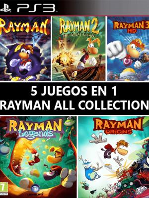 5 JUEGOS EN 1 RAYMAN COLECCION PS3