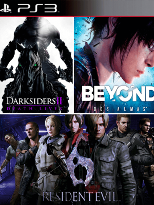 3 Juegos en 1 Darksiders II Mas BEYOND Dos almas Mas RESIDENT EVIL 6