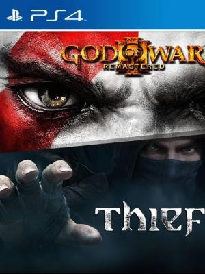 2 juegos en 1  God of War III  Remasterizado mas Thief  Ps4 Primaria