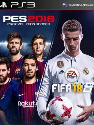 2 JUEGOS EN 1 PES 2018 MAS FIFA 2018 PS3