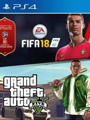 FIFA 18 PS4 MAS GRAND THEFT AUTO 5 (GTA V) GTA 5 PS4
