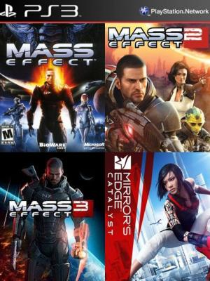 4 juegos en 1 Mass Effect Mas Mass Effect 2 Mas Mass Effect 3 Mas Mirrors Edge Ps3