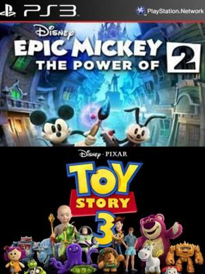 2 juegos en 1 Disney Epic Mickey 2 The Power of Two Mas Toy Story 3: The Video Game