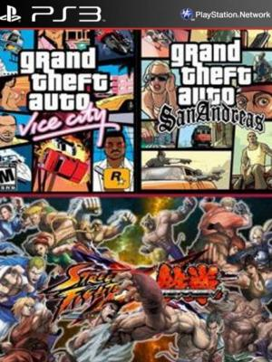 Grand Theft Auto San Andreas Mas Grand Theft Auto Vice City Mas  STREET FIGHTER X TEKKEN Ps3